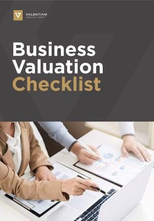 Business Valuation Checklist - Valentiam